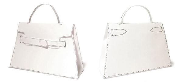 Fabrique ton propre sac à main Hermès en papier Soie