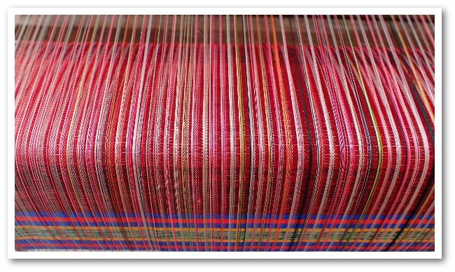 Détail tissage de la soie