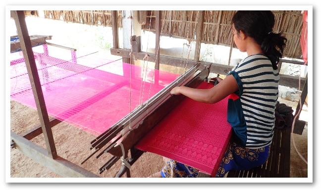 Tissage de la soie