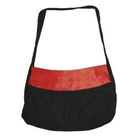 Sac à main coton noir et soie traditionnelle