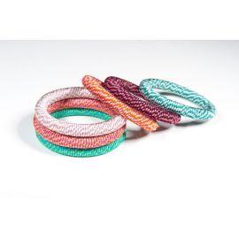 Bracelet Sweet en soie bicolore