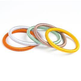 Set de 5 bracelets en fil de soie - french riviera
