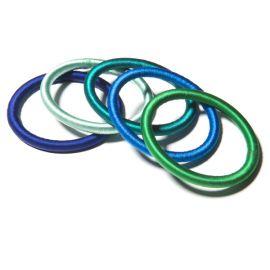 Set de 5 bracelets en fil de soie - océan