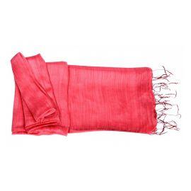 Echarpe viscose et soie rouge