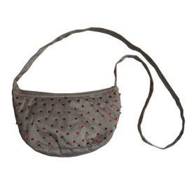 Petit sac à main en taffetas gris